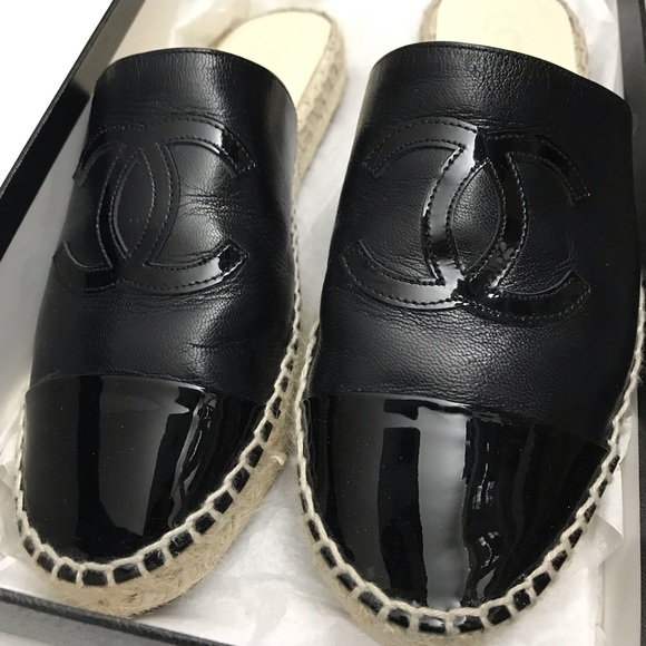 5fb51d6195d Chanel espadrilles 36 mules style black authentic